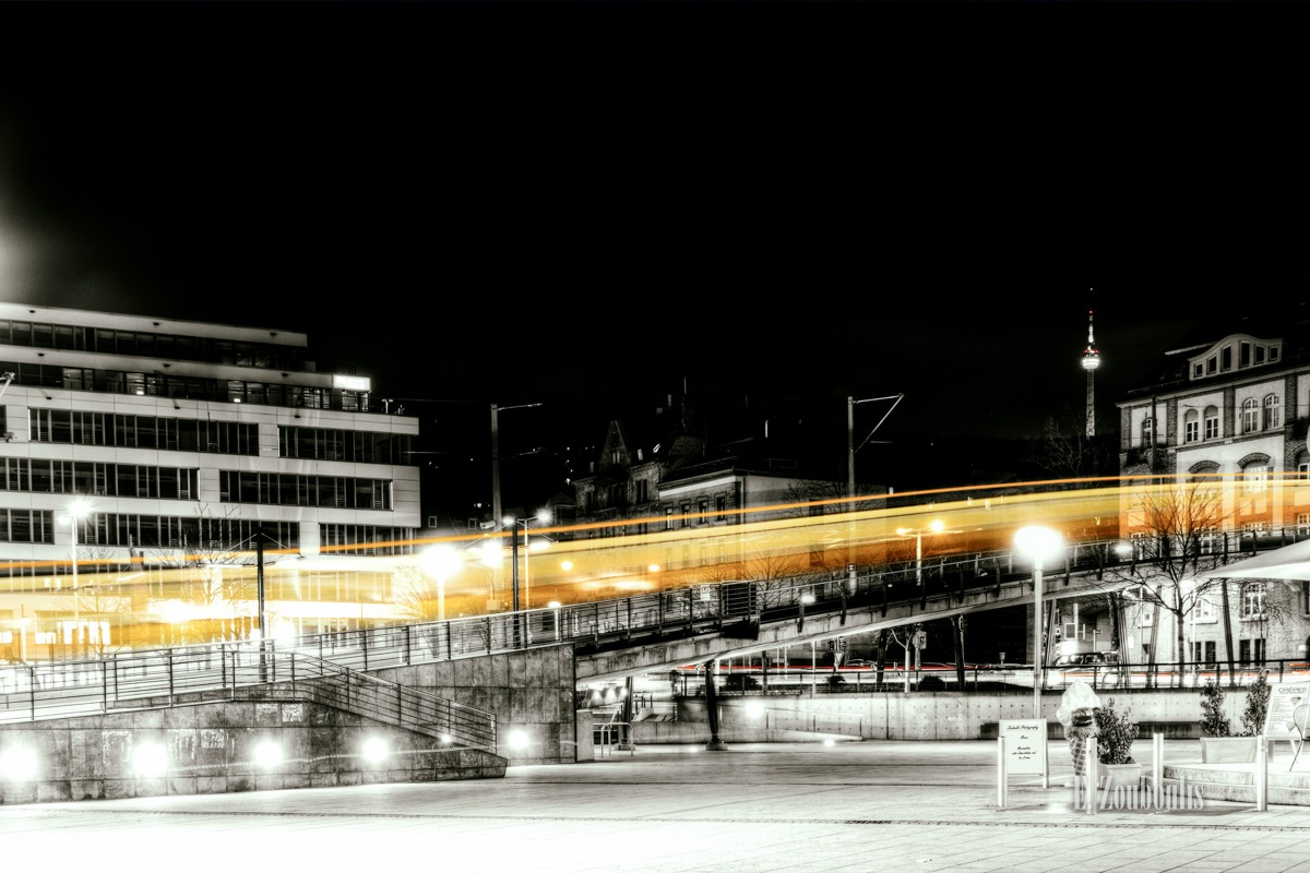 At The Speed Of Light, BW, Baden-Württemberg, Between Light Trails and Ice Cream, Chromakey, Colorkey, Deutschland, Dunkel, EZ00006, Fernsehturm, Gelb, Gelber Blitz, Germany, Ice Cream, Licht, Light Trails, Lightning, Marienplatz, Nacht, Night, Public Transportation, Rack Railway, Railway, SSB, Speed, Stuttgart, Traffic, Trails, Tram, Transport, Yellow, Yellow Lightning, Zacke, Zahnradbahn, Zouboulis, urban, zouboulis photography, ÖPNV