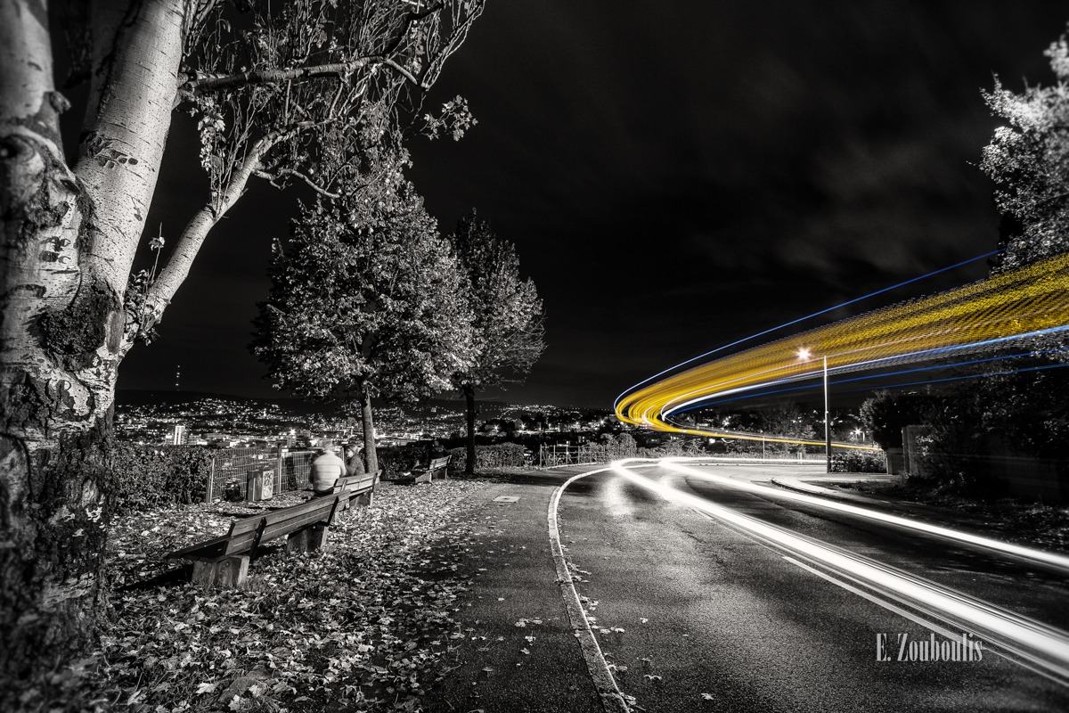 At The Speed Of Light, Baum, Bus, Chromakey, City, Cloud Movement, Clouds, Colorkey, Dark, Deutschland, Dunkel, EZ00014, Fine Art, FineArt, Gelb, Germany, Green, Grün, Langzeitbelichtung, Licht, Light Trails, Long Exposure, Nacht, Night, SSB, Skyline, Strasse, Street, Stuttgart, Traffic, Trails, Transport, Tree, Wolken, Yellow, Zouboulis, killesberg, lights, stadt, zouboulis photography