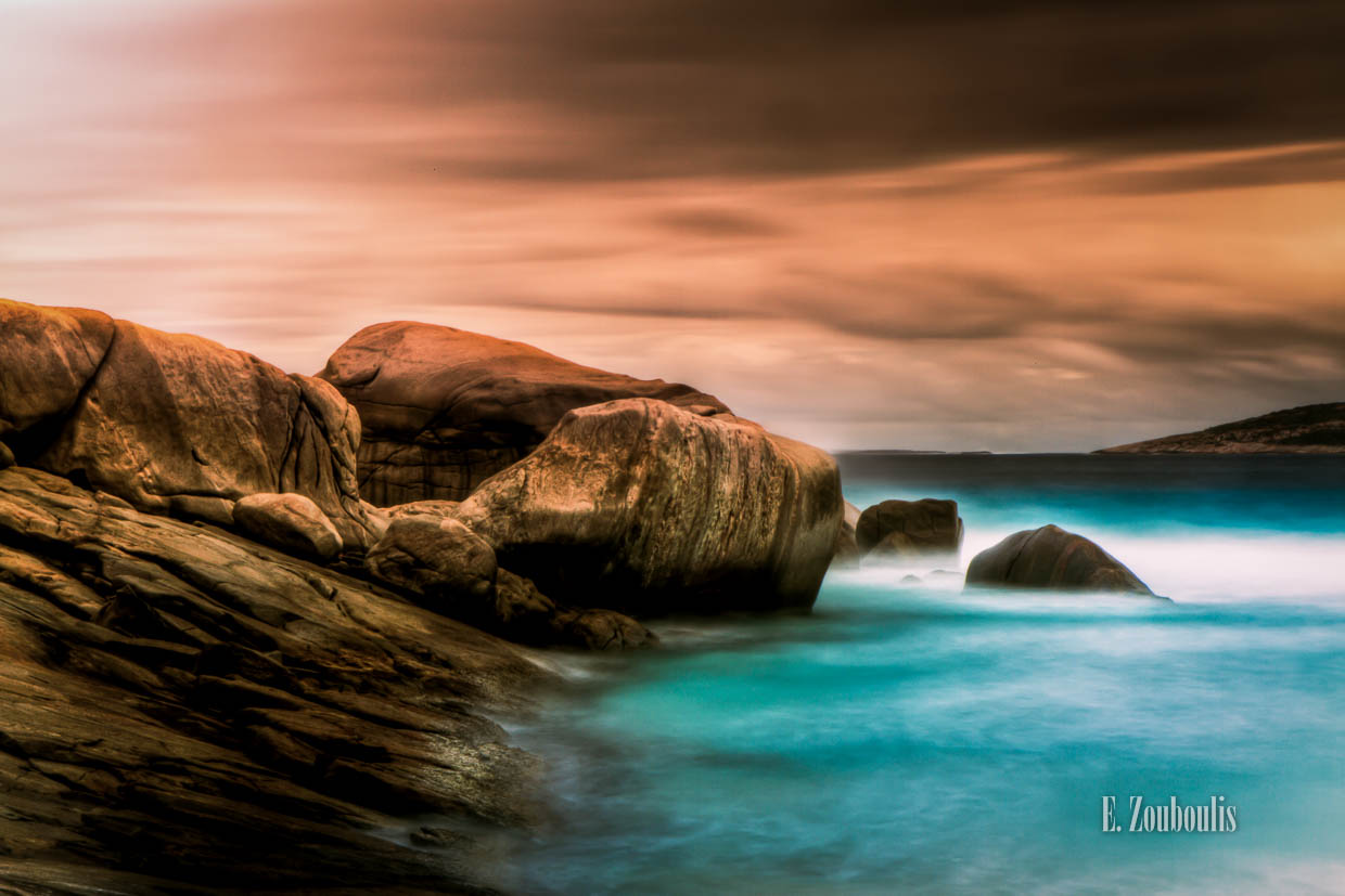 Australia, Cloud Movement, Clouds, EZ00026, Esperance, Felsen, Fine Art, FineArt, Himmel, Landscape, Langzeitbelichtung, Long Exposure, Ocean, Rocks, Sea, Seascape, Sky, Tag, Waves, Wellen, West Beach, Western Australia, Wolken, Zouboulis, day, nature, wolkenbewegung, zouboulis photography