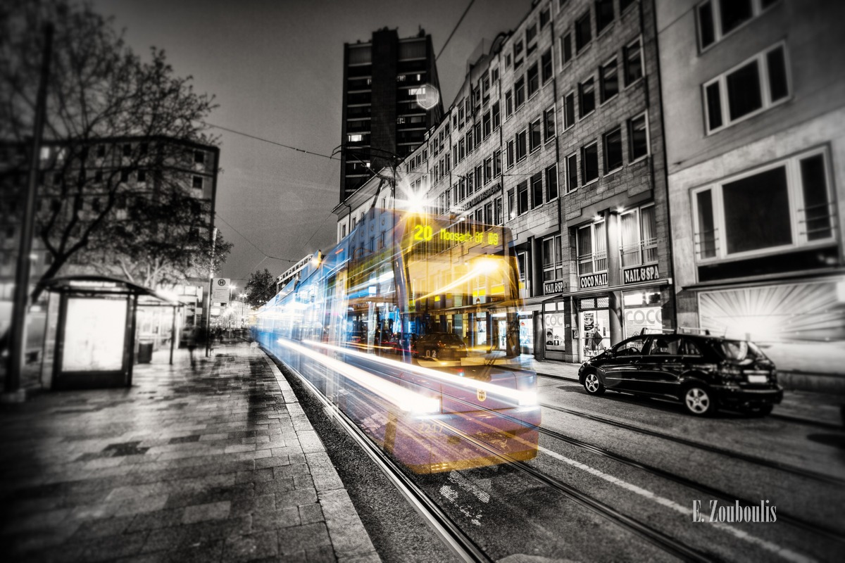 At The Speed Of Light, Bahn, Bavaria, Chromakey, Colorkey, Dark, Deutschland, Dunkel, EZ00042, Fine Art, FineArt, Germany, Ghost, Ghost Tram, Karlsplatz, Licht, Light Trails, MVG, Munich, München, Nacht, Night, Speed, Stachus, Traffic, Trails, Tram, Zouboulis, zouboulis photography