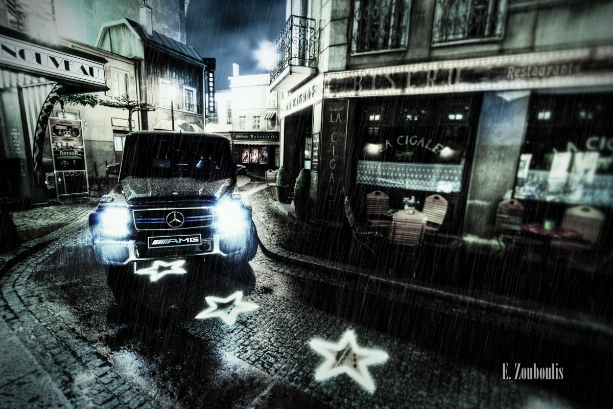 AMG, Automotive, Baden-Württemberg, Benz, Blau, Cars, Deutschland, Dunkel, Dämmerung, EZ00080, Europapark, Fine Art, FineArt, France, G63, Germany, Licht, Mercedes, Mercedes-Benz., Nacht, Night, Rust, Stunde, Zouboulis, zouboulis photography