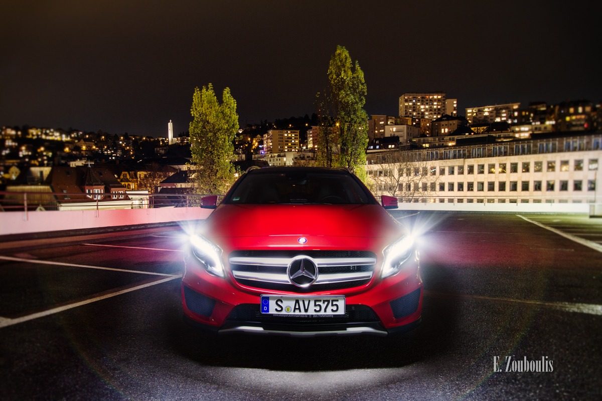 Automotive, Baden-Württemberg, Benz, Cars, City, Deutschland, EZ00088, GLA, Germany, Mercedes, Mercedes Benz Bank, Nacht, Night, Skyline, Star, Stuttgart, Zouboulis, cityscape, rooftops, top, troof, zouboulis photography