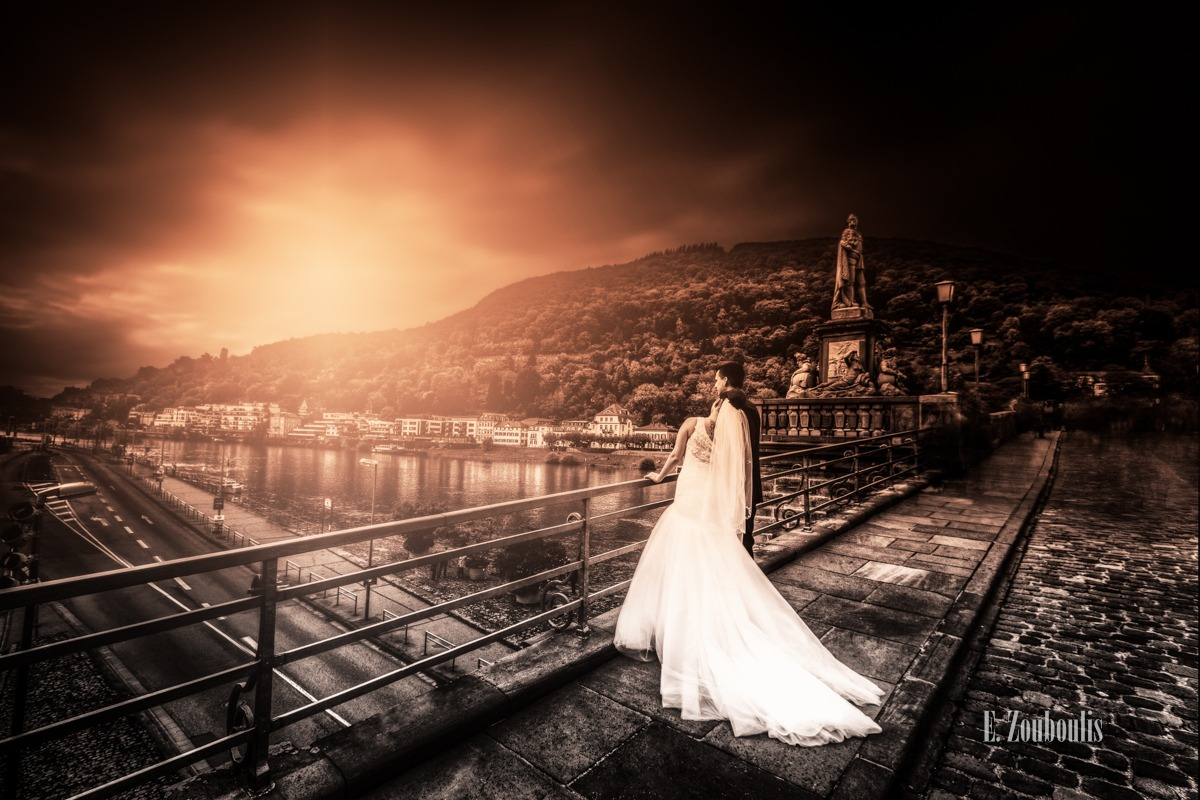 Baden-Württemberg, Bridge, Brücke, Chromakey, Colorkey, Deutschland, EZ00107, Fine Art, FineArt, Germany, Heidelberg, New Era, Strasse, Street, Wedding, Zouboulis, halo, hochzeit, hochzeitsfotografie, hochzeitskleid, markovic, wedding dress, weiss, white, zouboulis photography