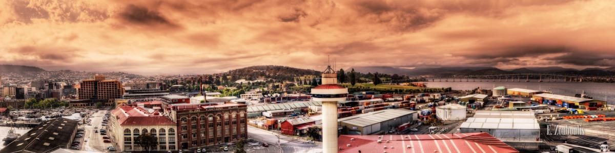 Australia, Australien, City, Clouds, EZ00115, Hafen, Harbor, Hobart, Panorama, Skyline, Tag, Tasmania, Tasmanien, Wolken, Zouboulis, day, obelisk, port, stadt, view, zouboulis photography