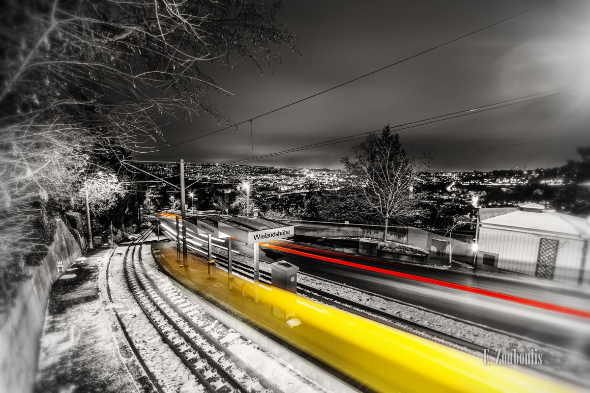 Alte Weinsteige, At The Speed Of Light, Chromakey, Colorkey, Deutschland, EZ00130, Fine Art, FineArt, Germany, Januar, Langzeitbelichtung, Light Trails, Long Exposure, Nacht, Night, Rack Railway, SSB, Strasse, Strassenbahn, Street, Stuttgart, Traffic, Trails, Tram, Weinsteige, Yellow, Zacke, Zahnradbahn, Zouboulis, klink, wielandshöhe, zouboulis photography