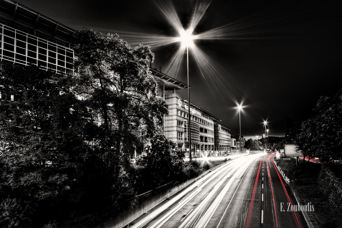 At The Speed Of Light, B14, Chromakey, Colorkey, Deutschland, EZ00131, Fine Art, FineArt, Germany, Heslach, Light Trails, Nacht, Night, Rot, Speed, Strasse, Street, Stuttgart, Stuttgart Süd, Süd, Traffic, Trails, Zouboulis, red, zouboulis photography, österreichischer platz