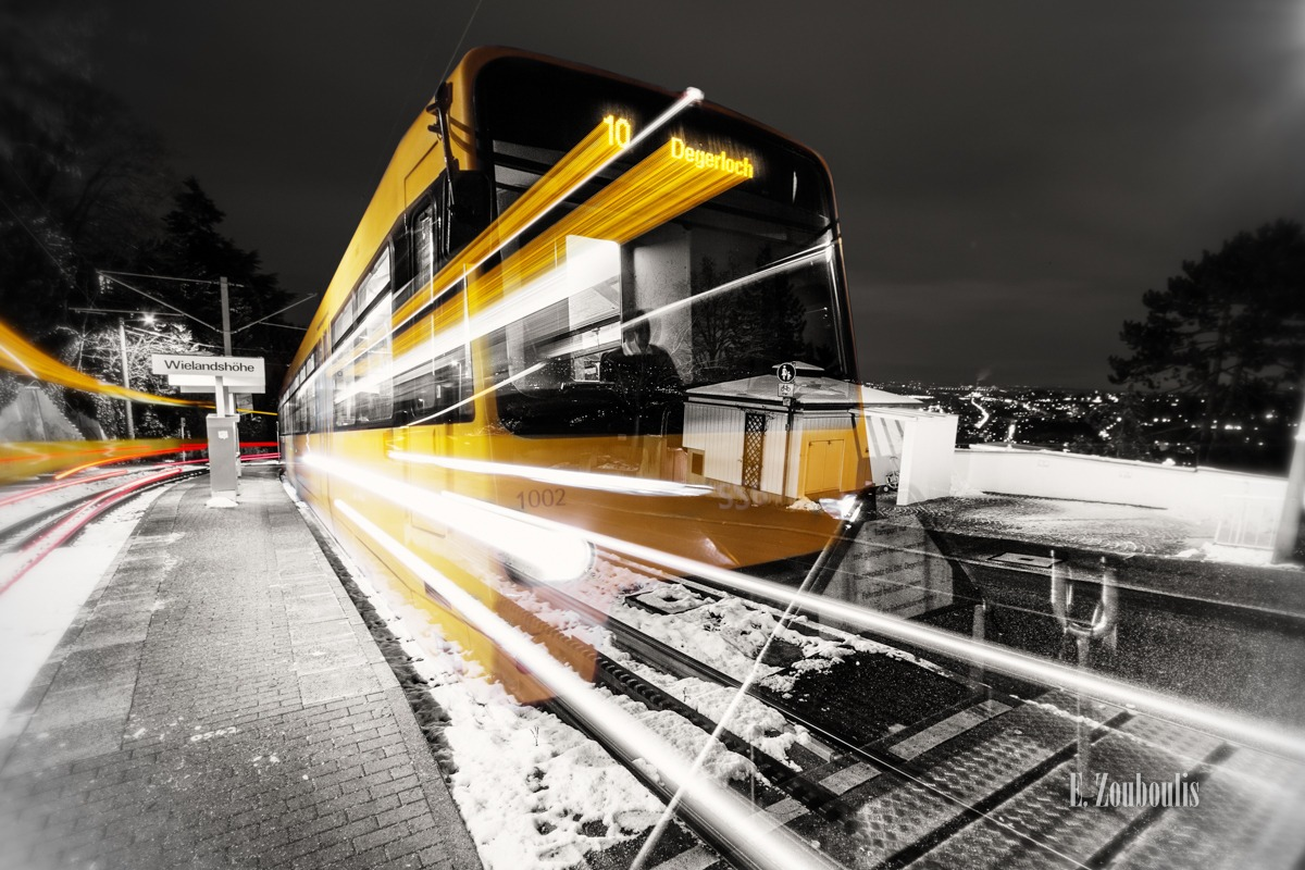 Alte Weinsteige, At The Speed Of Light, Bahn, Chromakey, Colorkey, Deutschland, EZ00135, Fine Art, FineArt, Germany, Langzeitbelichtung, Light Trails, Long Exposure, Nacht, Night, Rack Railway. gelb, SSB, Speed, Strassenbahn, Stuttgart, Traffic, Trails, Train, Tram, Weinsteige, Yellow, Zacke, Zahnradbahn, Zouboulis, degerloch, wielandshöhe, zouboulis photography