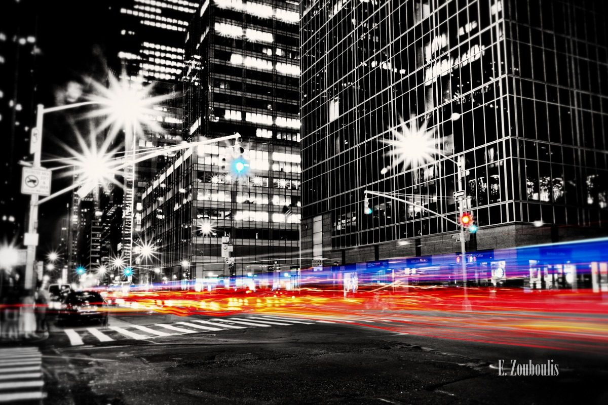 At The Speed Of Light, Auto, Big Apple, Chase, Chromakey, City, Colorkey, Dunkel, EZ00192, Fine Art, FineArt, HBO, Licht, Light Trails, Manhattan, NY, NYC, NYPD, Nacht, New York, New York City, Night, Police, Speed, Traffic, Trails, USA, United States of America, Velocity, Zouboulis, zouboulis photography