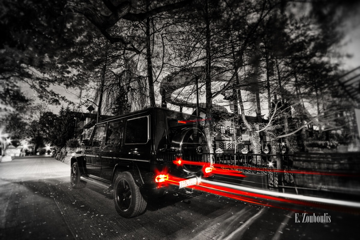 AMG, At The Speed Of Light, Auto, Automotive, Baum, Benz, Cars, Chromakey, Colorkey, Deutschland, Dunkel, EZ00218, Europa Park, Europapark, Fine Art, FineArt, G63, Germany, Licht, Light Trails, MBEP15, Mercedes, Nacht, Night, Rust, Speed, Theme Park, Traffic, Trails, Tree, Zouboulis, schweiz, switzerland, zouboulis photography