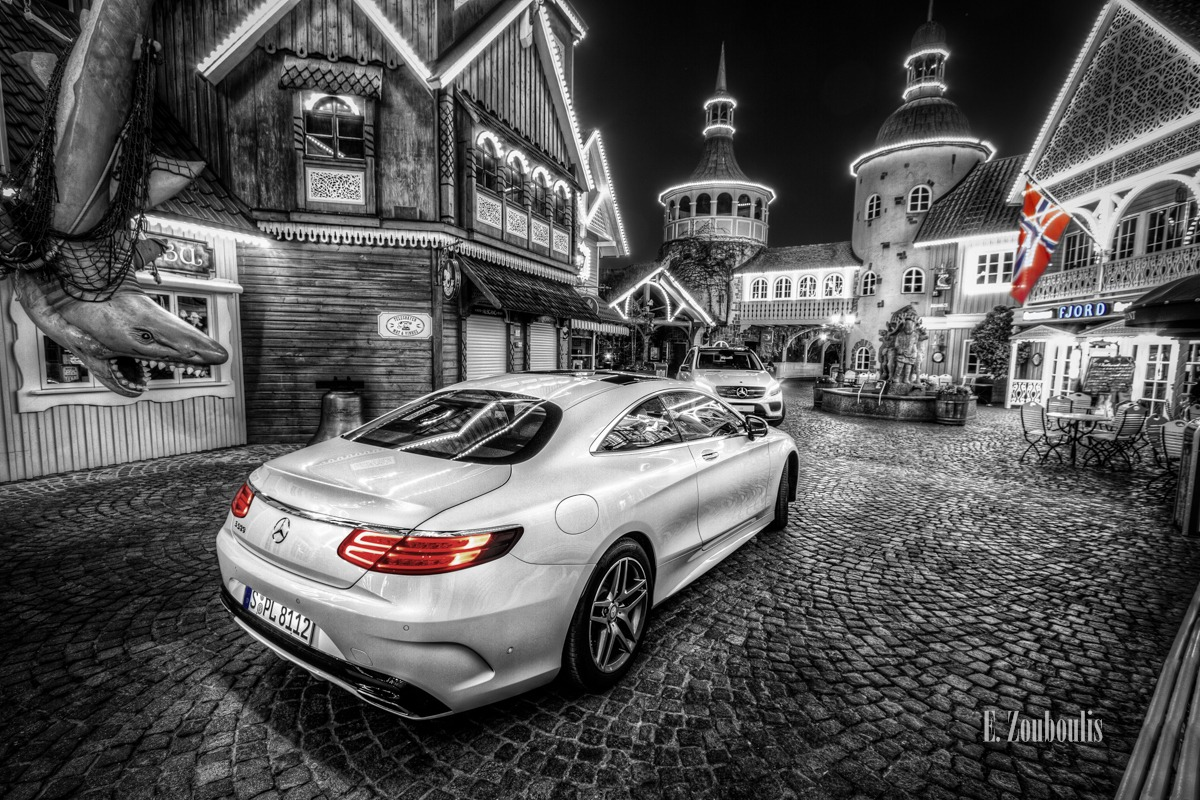 Auto, Automotive, Benz, Cars, Chromakey, Colorkey, Coupe, Deutschland, Dunkel, EZ00222, Europa Park, Europapark, Fine Art, FineArt, GLE, Germany, Licht, Luxus, Mercedes, Nacht, Night, Rust, S-Class, S-Klasse, S500, Theme Park, Zouboulis, daimler, fjord, norway, norwegen, skandinavien, weiss, white, zouboulis photography