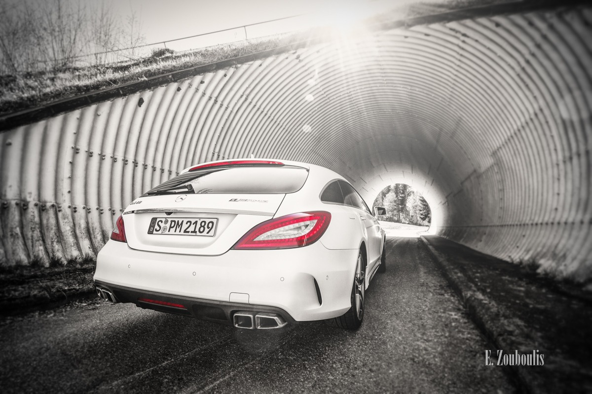 AMG, Auto, Automotive, Baden-Württemberg, Benz, CLS63, Cars, Chromakey, Colorkey, Deutschland, EZ00228, Fine Art, FineArt, Germany, Licht, Mercedes, Rot, Sonne, Sun, Tag, Tunnel, Zouboulis, cls, day, mercedes benz, red, shooting brake, shootingbrake, weiss, white, zouboulis photography