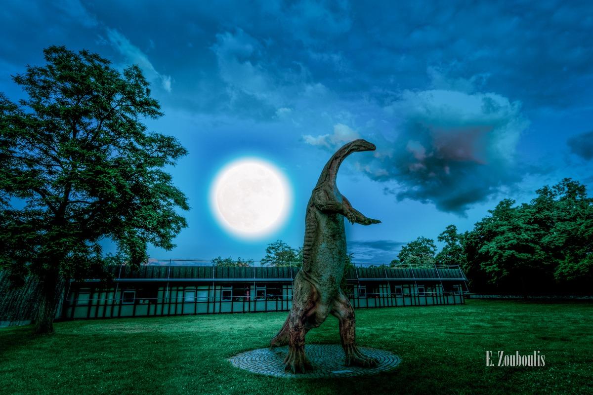 Blau, Blue, Blue Hour, Clouds, Dark, Deutschland, Dunkel, Dämmerung, EZ00294, Fine Art, FineArt, Full Moon, Germany, Green, Grün, Licht, Midnight, Mond, Moon, Nacht, Night, Rasen, Seleepwalker, Stuttgart, Stuttgart Nord, Vollmond, Wolken, Zouboulis, dinosaur, dinosaurier, gras, löwentor, löwentormuseum, mondlicht, moonshine, moonwalker, reptilien, rosensteinpark, sleepwalk, zouboulis photography