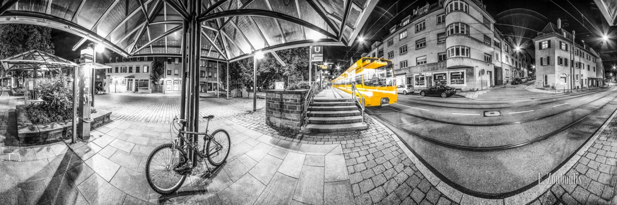 360, At The Speed Of Light, Bihlplatz, Böblingerstrasse, Chromakey, City, Colorkey, Deutschland, Dunkel, EZ00333, Fellbach, Fine Art, FineArt, Gelb, Germany, Geschwindigkeit, Heslach, Langzeitbelichtung, Licht, Lichtschweif, Light Trails, Long Exposure, Nacht, Night, Panorama, SSB, Speed, Stadtbahn, Stairs, Station, Strassenbahn, Stuttgart, Stuttgart Süd, Traffic, Trails, Train, Tram, Velocity, Yellow, Zouboulis, bike, fahrrad, haltestelle, tram station, treppe, zouboulis photography