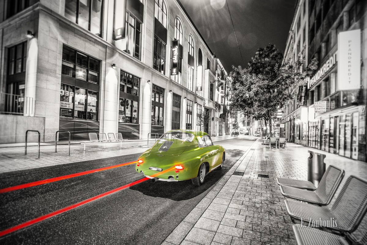 1958, 356, At The Speed Of Light, Auto, Chromakey, City, Colorkey, Deutschland, Downtown, Dunkel, EZ00351, Fine Art, FineArt, Germany, Historisch, Licht, Light Trails, Nacht, Night, Porsche, Porsche 356, Speed, Stuttgart, Stuttgart-Mitte, Stuttgart-Süd, Traffic, Trails, Tübinger Strasse, Zouboulis, gerber, helber, historic, innenstadt, oldsmobile, oldtimer, past, zouboulis photography