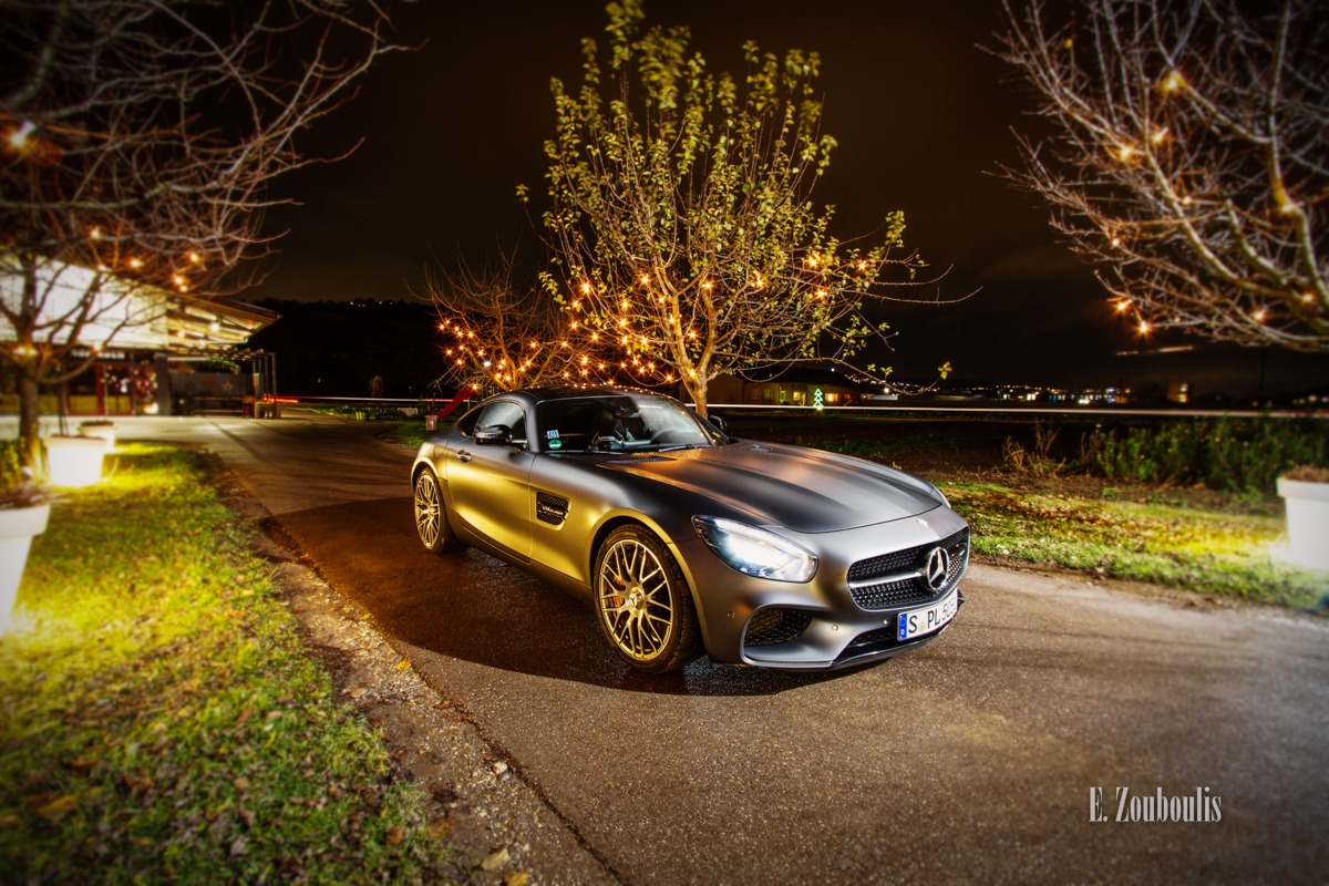 AMG, AMG GT, AMG GTS, AMGGTS, Automotive, Benz, Cars, Christmas, Deutschland, Dunkel, EZ00374, Esslingen, Fine Art, FineArt, Germany, Licht, Mercedes, Nacht, Night, Weihnachten, Zouboulis, hofladen, racecar, sportscar, weihnachtlich, weilerhof, zouboulis photography