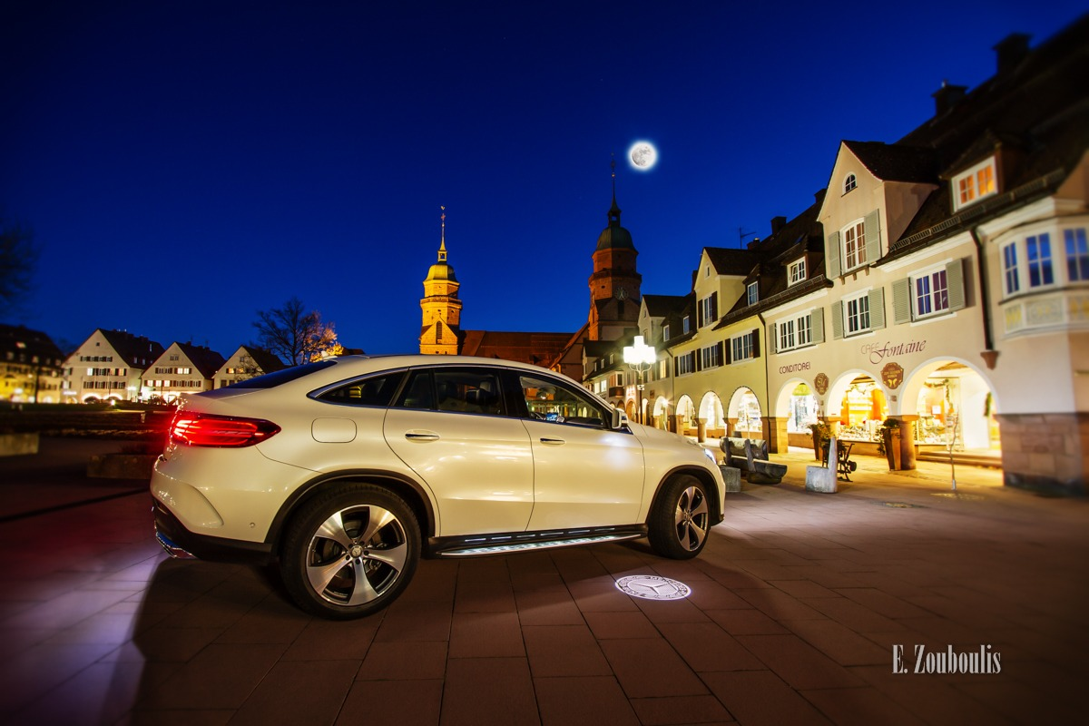 Auto, Automotive, Benz, Blau, Blue, Cars, Coupé, Deutschland, Dunkel, Dämmerung, EZ00379, Fine Art, FineArt, GLE, Germany, Licht, Mercedes, Mond, Moon, Nacht, Night, SUV, Stunde, Vollmond, Zouboulis, conditorei, fontaine, freudenstadt, gle400, glecoupé, zouboulis photography