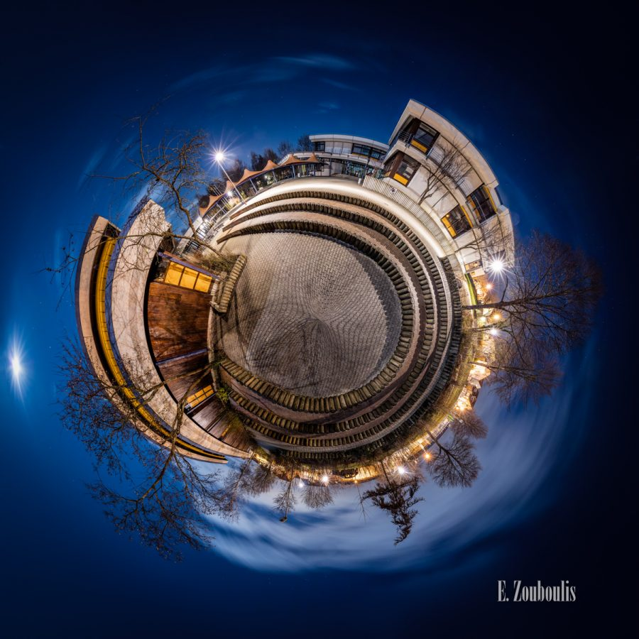 Deutschland, Dunkel, EZ00393, Fine Art, FineArt, Germany, Gärtringen, Kugel, Licht, Mond, Nacht, Night, Panorama, Planet, School, Sterne, THR, Theodor heuss Realschule, Tiny Planet, Vollmond, Welt, Zouboulis, light, pausenhof, schulhof, space, universe, universum, weltall, zouboulis photography