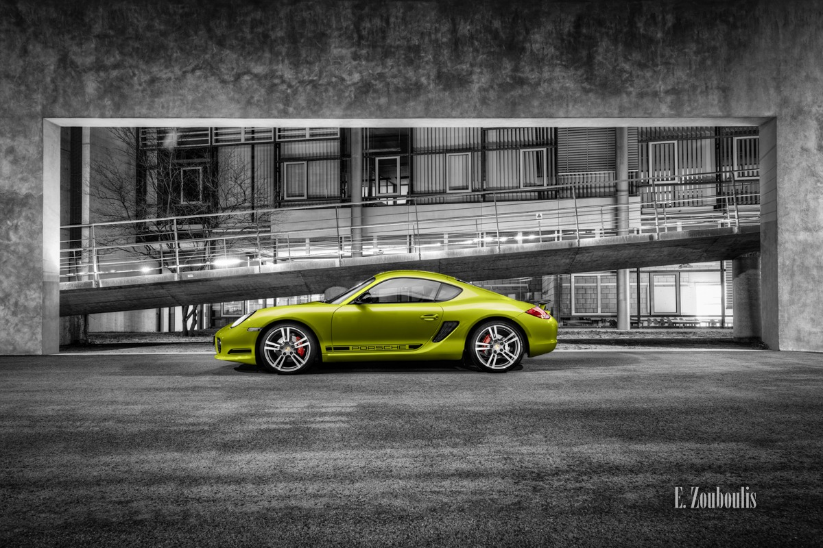 Auto, Automotive, Cars, Cayman, Cayman R, Chromakey, Colorkey, Deutschland, Dunkel, EZ00402, Fine Art, FineArt, Germany, Green, Grün, Licht, Lime, Nacht, Night, Porsche, Stuttgart, Zouboulis, helber, zouboulis photography