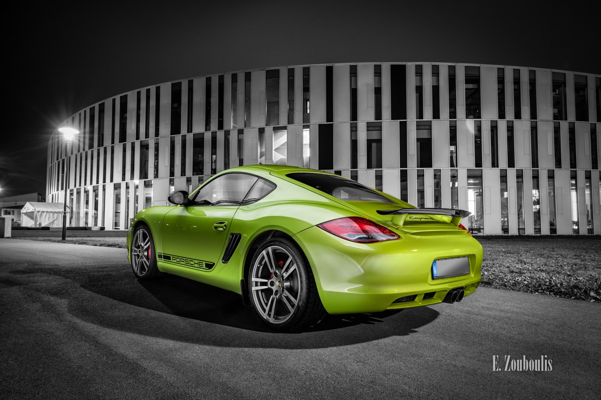 Auto, Automotive, Cars, Cayman, Cayman R, Chromakey, Colorkey, Deutschland, Dunkel, EZ00405, Fine Art, FineArt, Germany, Green, Grün, Licht, Lime, Nacht, Night, Porsche, Stuttgart, Zouboulis, helber, zouboulis photography