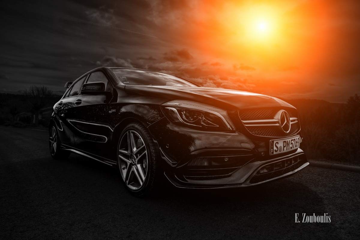 A45, AMG, Automotive, Baden-Württemberg, Benz, Cars, Clouds, Deutschland, Dunkel, EZ00430, Fine Art, FineArt, Germany, Himmel, Licht, Mercedes, Orange, Sonnenuntergang, Sunset, Wolken, Zouboulis, mbsocialcar, sonnenaufgang, sunrise, zouboulis photography