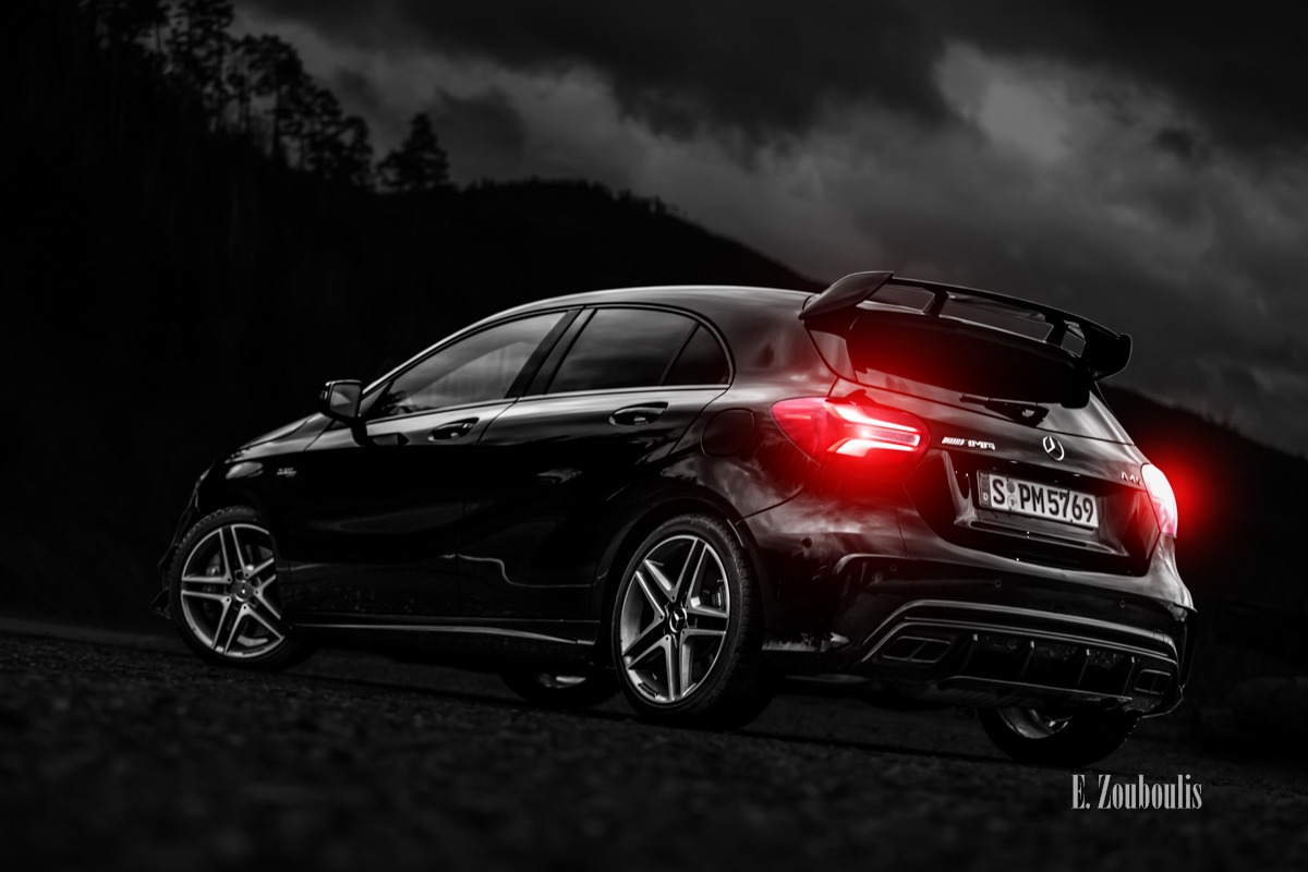 EZ00432 A45 AMG at Black Forest