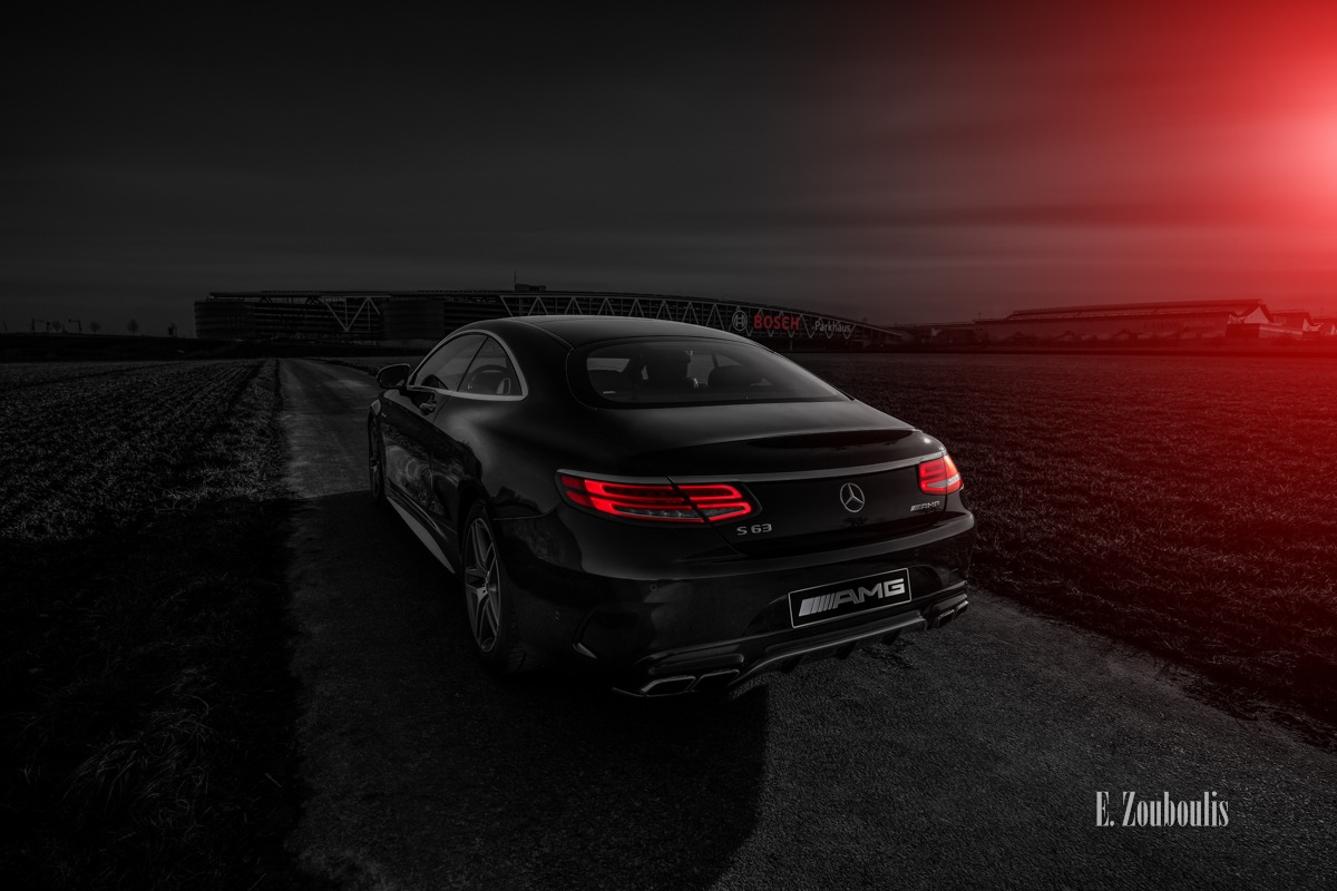AMG, Airport, Automotive, Benz, Cars, Castle, Chromakey, Colorkey, Deutschland, Dunkel, EZ00439, Filderstadt, Fine Art, FineArt, Flughafen, Germany, Licht, Luxus, Mercedes, Plieningen, Rot, S63, Stuttgart, Zouboulis, bosch, luxury, messe, parkhaus, red, s63amg, zouboulis photography