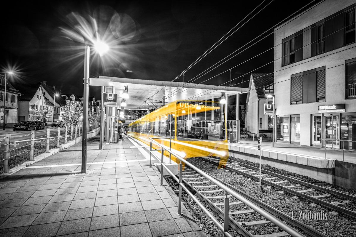 At The Speed Of Light, BW Bank, Chromakey, Colorkey, Deutschland, Dunkel, EZ00472, Fernsehturm, Fine Art, FineArt, Geisterzug, Gelb, Germany, Geschwindigkeit, Ghost Tram, Kelterplatz, Langzeitbelichtung, Licht, Lichtschweif, Light Trails, Long Exposure, Nacht, Night, Rathaus, Ruhbank, SSB, Speed, Stadtbahn, Station, Strassenbahn, Stuttgart, Traffic, Trails, Tram, U15, Velocity, Yellow, Zouboulis, Zuffenhausen, dynamic, dynamisch, haltestelle, schienen, stop, tracks, zouboulis photography