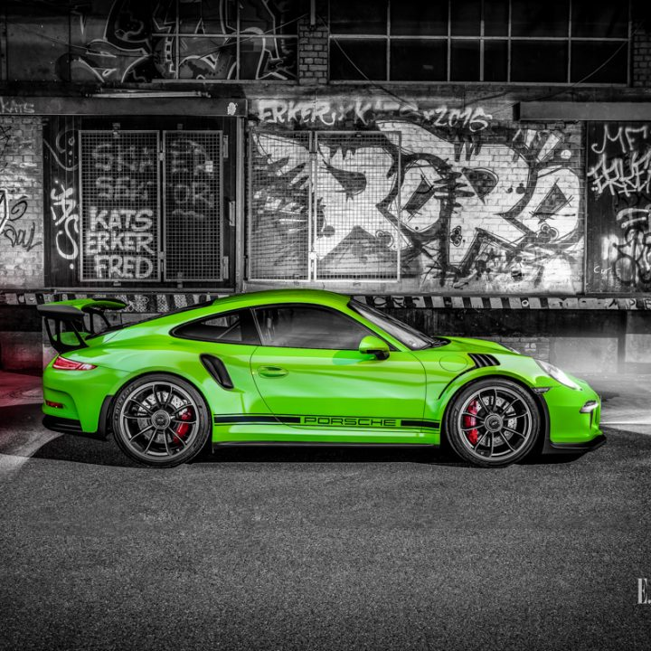 Fotoshooting mit einem Porsche GT3 RS in Stuttgart