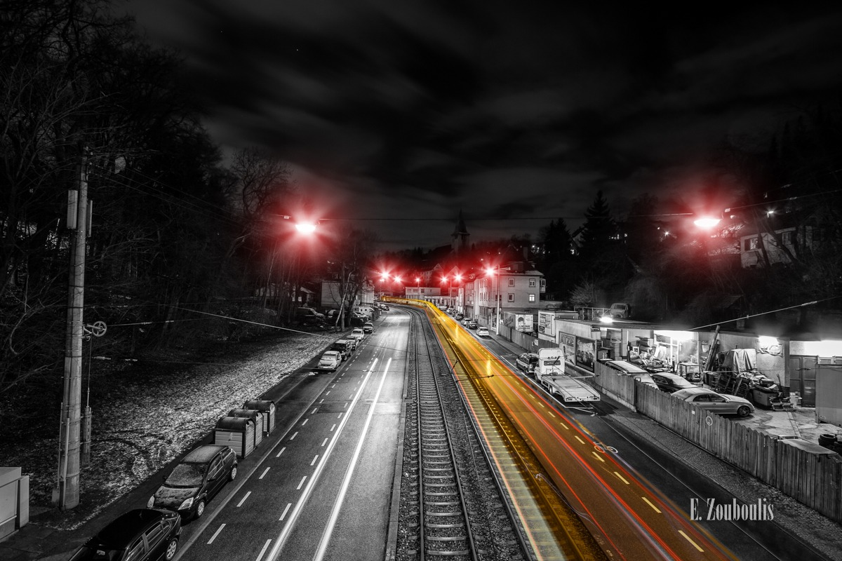At The Speed Of Light, Bahn, Bridge, Brücke, Chromakey, City, Colorkey, Deutschland, Downtown, Dunkel, EZ00592, Fine Art, FineArt, Gelb, Germany, Heslach, Kaltental, Langzeitbelichtung, Licht, Lichtschweif, Light Trails, Long Exposure, Nacht, Night, Rot, SSB, Speed, Stadtbahn, Strassenbahn, Stuttgart, Stuttgart Süd, Süd, Traffic, Trails, Tram, Velocity, Yellow, Zouboulis, futuristic, futuristisch, red, schienen, tracks, zouboulis photography