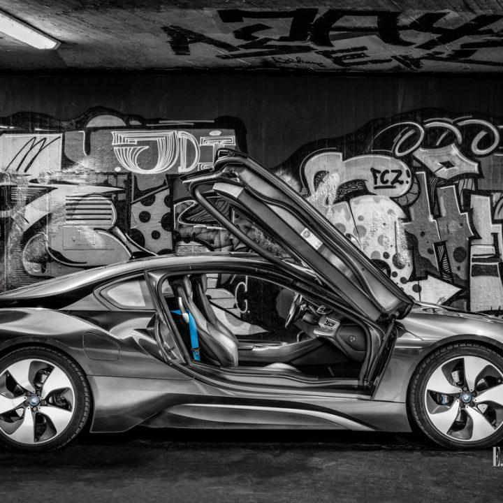 BMW i8 auf Stuttgart Tour