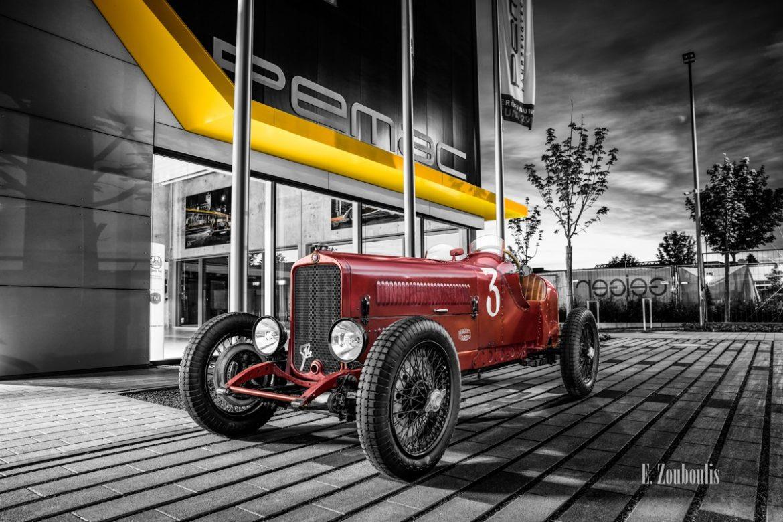 Fotografie eines Fiat 514 S aus dem Jahr 1929 - zu Besuch auf Stuttgarts Strassen. Hier im Classic Car Refugium in Filderstadt.