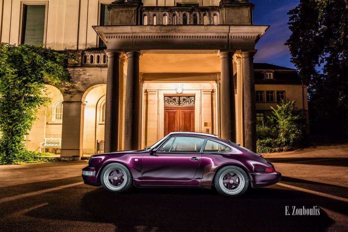 Auto, Car, City, Deutschland, Dunkel, EZ00711, Fine Art, FineArt, Germany, Langzeitbelichtung, Licht, Light Long Exposure, Lila, Long Exposure, Nacht, Night, Porsche, Porsche 911, Porsche 964, Rot, Stuttgart, Villa, Zouboulis, amethyst, classic, classic car refugium, gemmingen, helber, historic, oldtimer, red, youngtimer, zouboulis photography