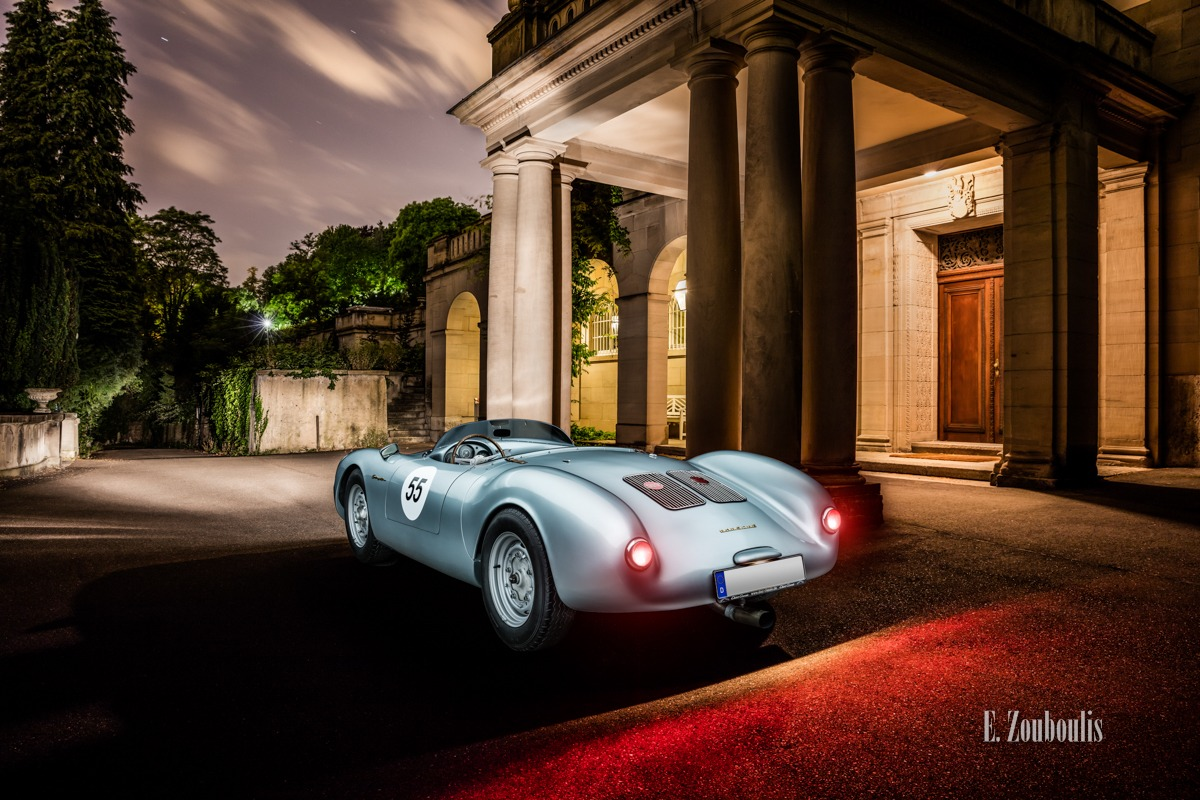 550 Spyder, Auto, Car, City, Deutschland, Dunkel, EZ00714, Fine Art, FineArt, Germany, Langzeitbelichtung, Licht, Light Long Exposure, Long Exposure, Nacht, Night, Porsche, Porsche 550, Rot, Stuttgart, Villa, Zouboulis, classic, classic car refugium, gemmingen, helber, historic, oldtimer, red, zouboulis photography