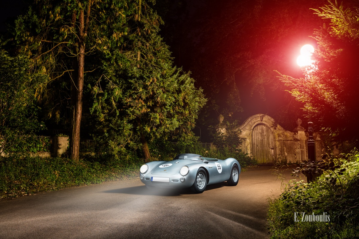 550 Spyder, Auto, Car, City, Deutschland, Dunkel, EZ00718, Fine Art, FineArt, Germany, Langzeitbelichtung, Licht, Light Long Exposure, Long Exposure, Nacht, Night, Porsche, Porsche 550, Rot, Stuttgart, Villa, Zouboulis, classic, classic car refugium, gemmingen, helber, historic, oldtimer, red, zouboulis photography
