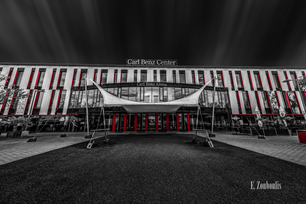 Architecture, Architektur, Bad Cannstatt, Baden-Württemberg, Carl Benz Center, Chromakey, Colorkey, Deutschland, EZ00735, Fine Art, FineArt, Germany, Rot, Sports, Stuttgart, VfB Stuttgart, Zouboulis, daimler, red, stadion, zouboulis photography