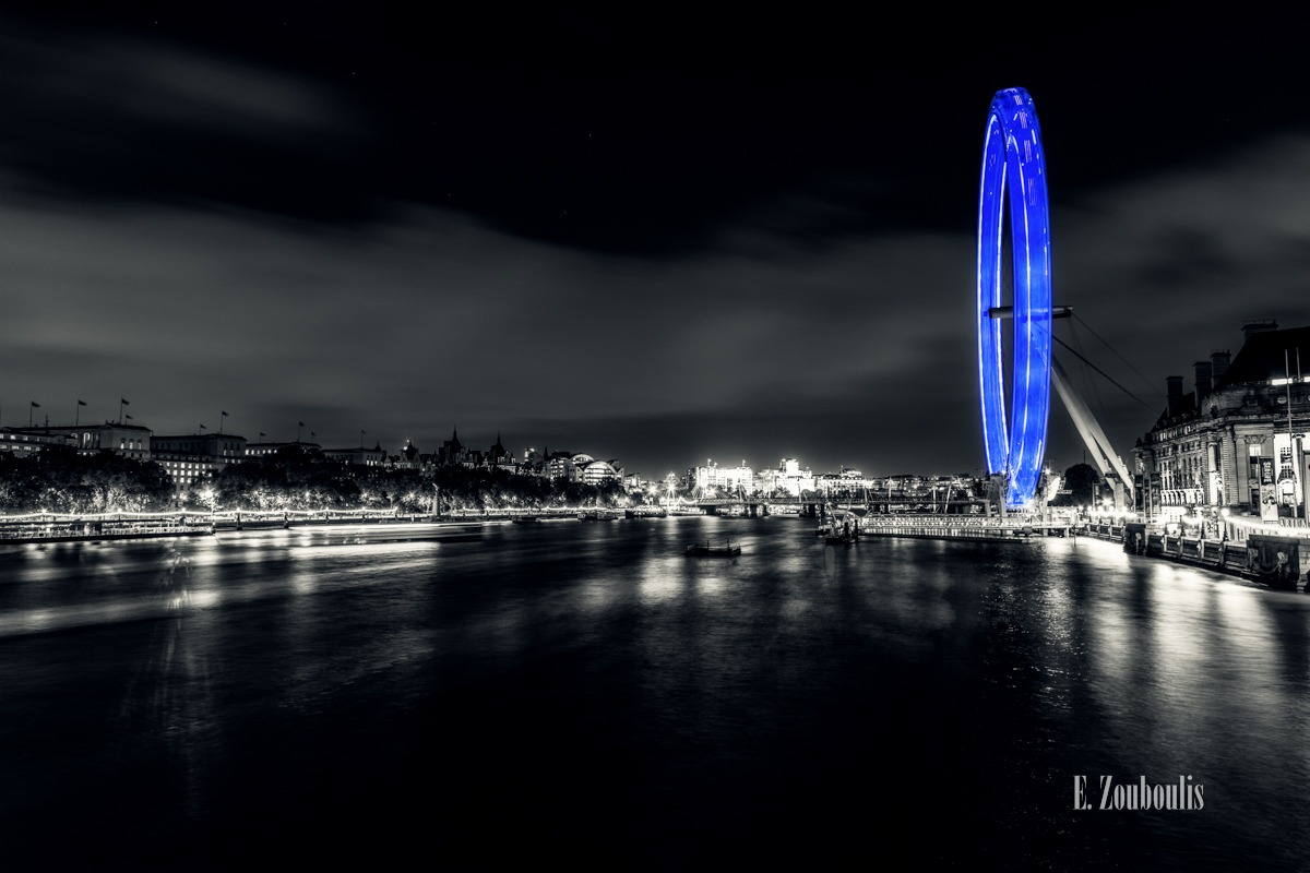 Art, Britain, Chromakey, Colorkey, Dunkel, EZ00737, England, Ferris Wheel, Fine Art, FineArt, Great Britain, Green, Licht, Light Trails, London, London Eye, Nacht, Night, Riesenrad, Skywheel, Speed, Streak, Trails, UK, United Kingdom, Westminster Bridge, Zouboulis, zouboulis photography