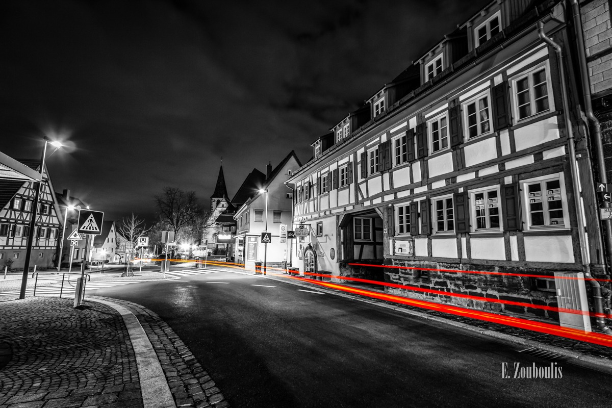 At The Speed Of Light, Chromakey, City, Colorkey, Deutschland, Dunkel, EZ00759, Fine Art, FineArt, Gelb, Germany, Kirchstraße, Licht, Light Trails, Nacht, Night, Petruskirche, Rot, Schulstraße, Speed, Street, Streets, Stuttgart, Traffic, Trails, Transport, Yellow, Zouboulis, gerlingen, red, transportation, weilimdorfer straße, zouboulis photography