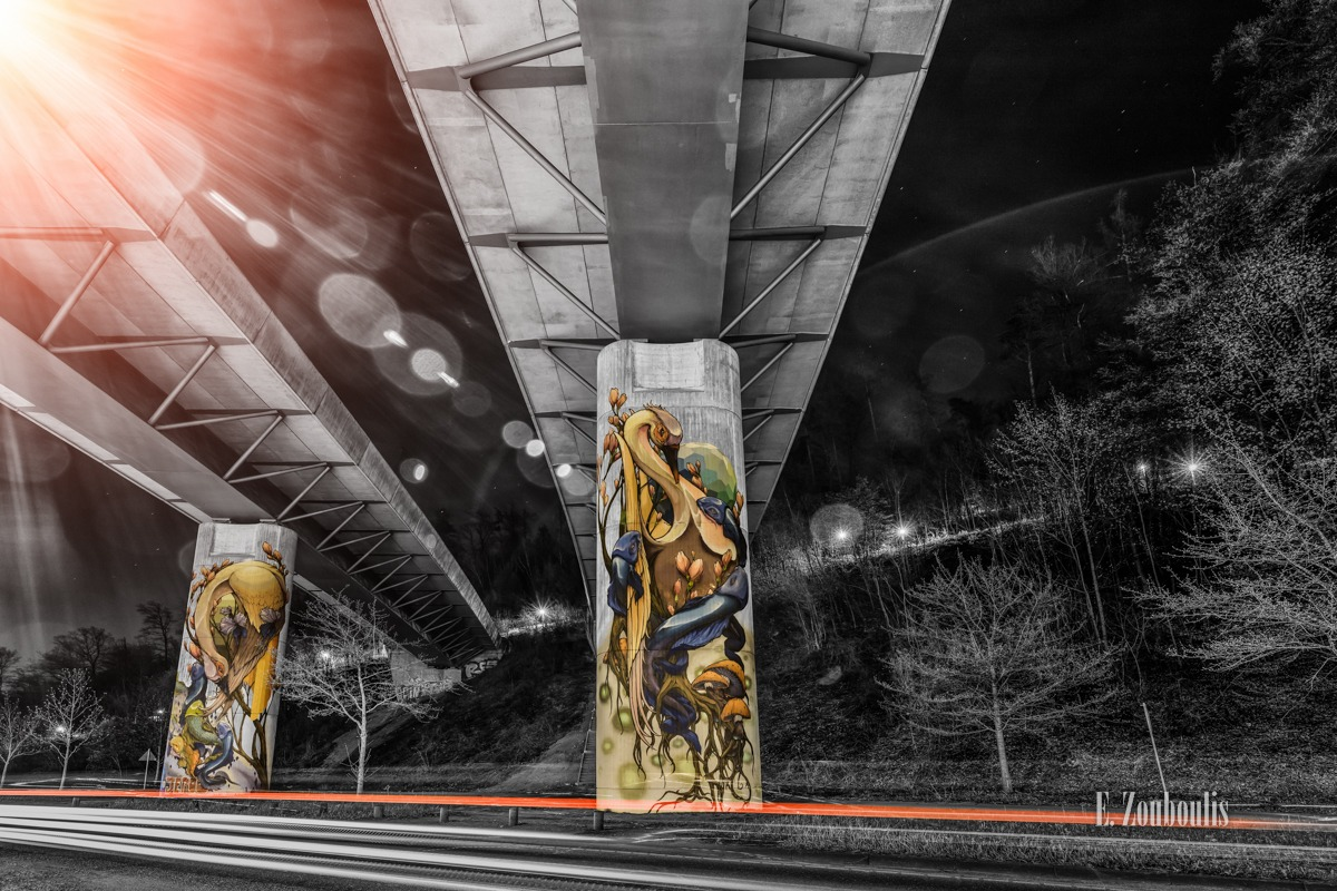 At The Speed Of Light, Bridge, Brücke, Chromakey, Colorkey, Deutschland, Dunkel, EZ00767, Fine Art, FineArt, Gelb, Germany, Heslach, Langzeitbelichtung, Licht, Lichtschweif, Light Trails, Long Exposure, Nacht, Night, Speed, Stuttgart, Stuttgart Süd, Südheim, Traffic, Trails, Tram, Velocity, Yellow, Zouboulis, futuristic, futuristisch, graffiti, jeroo, under the bridge downtown, zouboulis photography