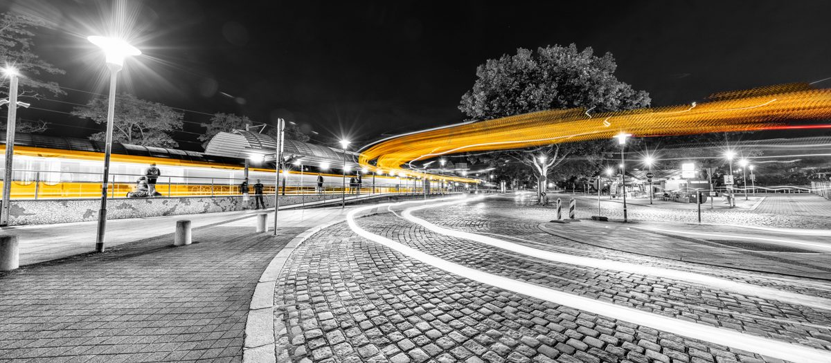 Stuttgart Feuerbach in Lichtgeschwindigkeit
