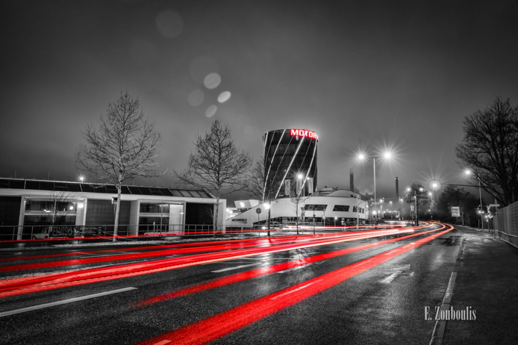 At The Speed Of Light, Baden-Württemberg, Böblingen, Chromakey, City, Colorkey, Deutschland, Dunkel, EZ00822, Fine Art, FineArt, Germany, Licht, Light Trails, Motorworld, Nacht, Night, Rot, Street, Traffic, Trails, Verkehr, Zouboulis, lights, red, tower66, urban, zouboulis photography
