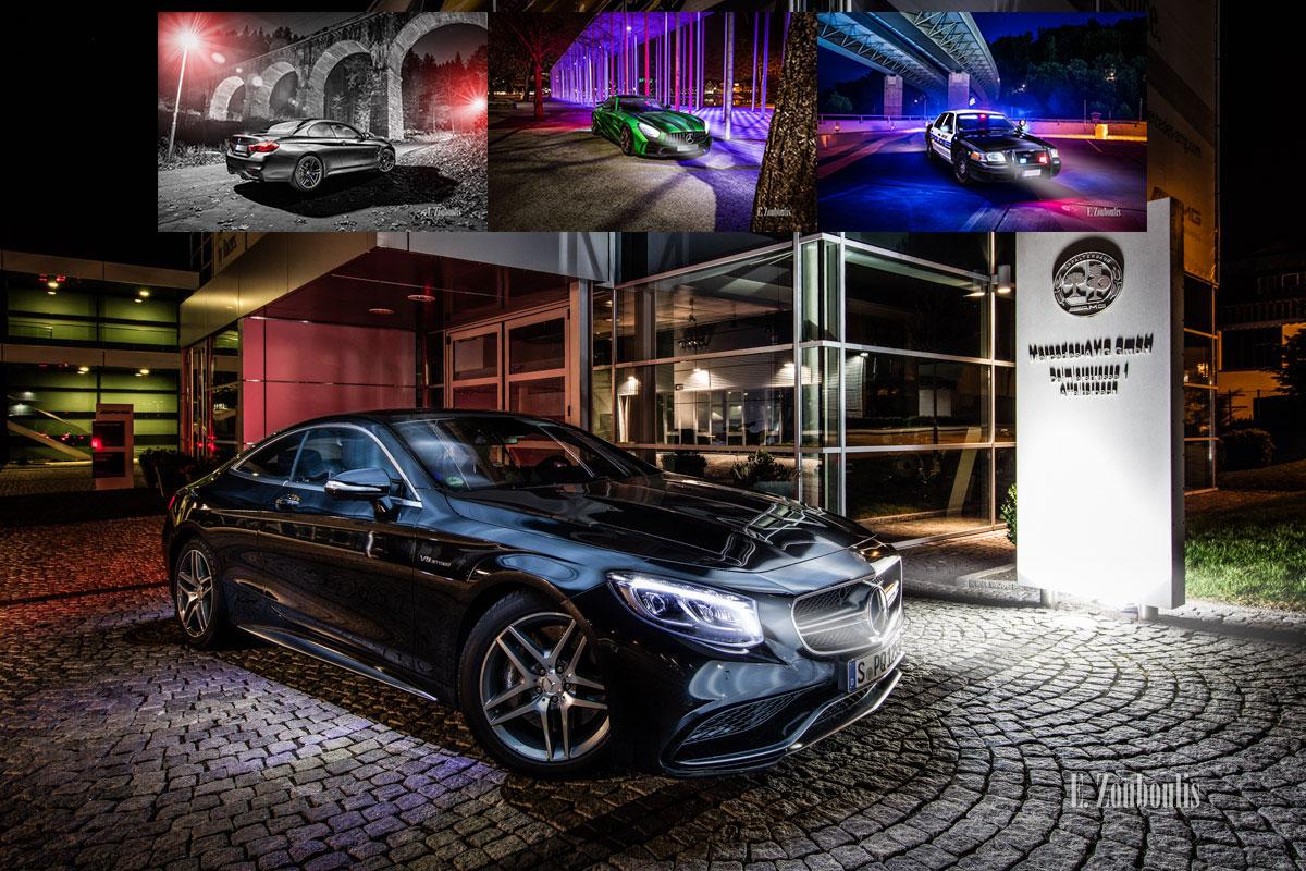 Autofotografie in der Nacht. Bildübersicht von Autofotos, die nachts entstanden sind.