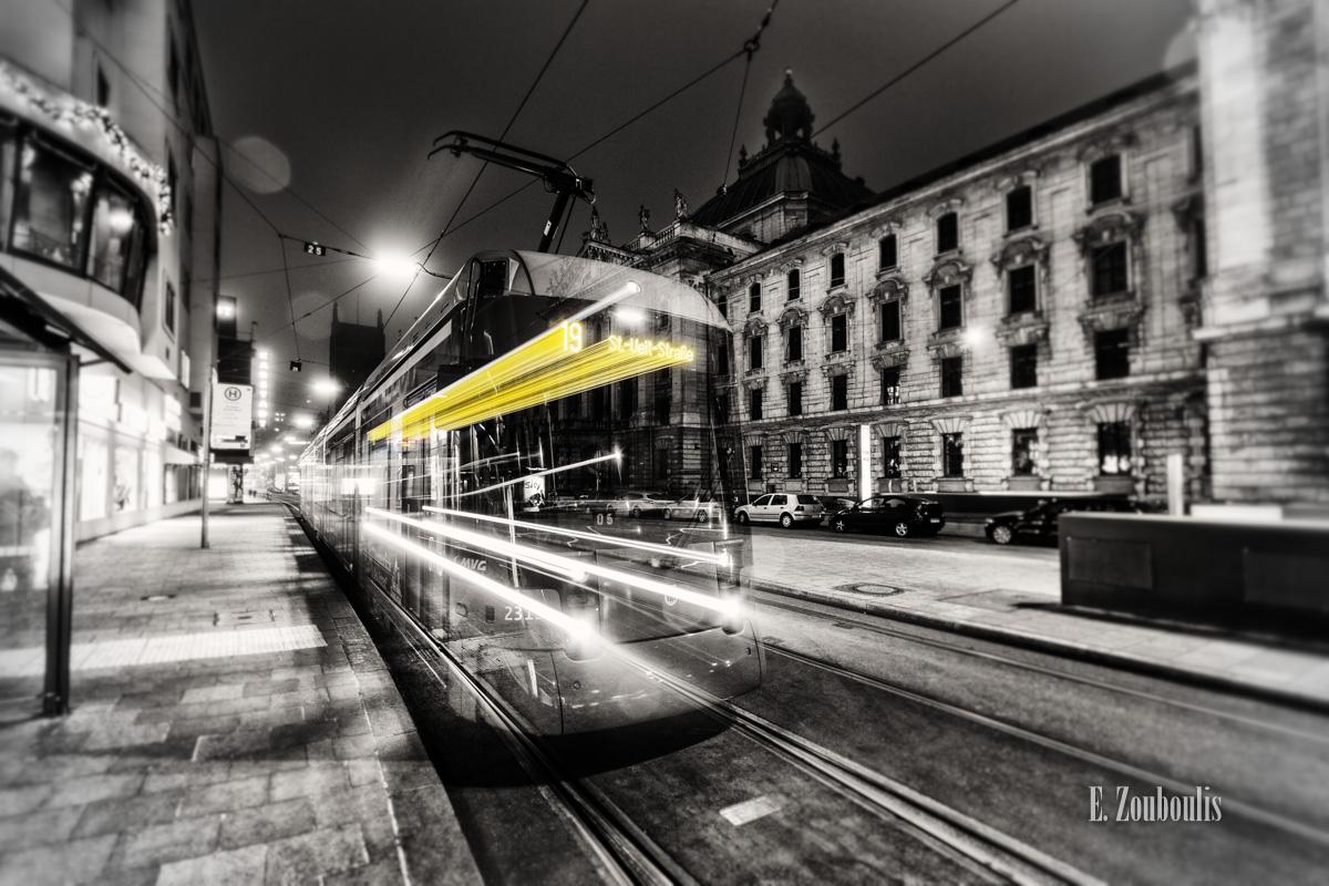 At The Speed Of Light, Bahn, Bavaria, Chromakey, Colorkey, Dark, Deutschland, Dunkel, EZ00040, Fine Art, FineArt, Gelb, Germany, Ghost, Ghost Tram, Karlsplatz, Licht, Light Trails, MVG, Munich, München, Nacht, Night, Speed, Stachus, Traffic, Trails, Tram, Yellow, Zouboulis, zouboulis photography