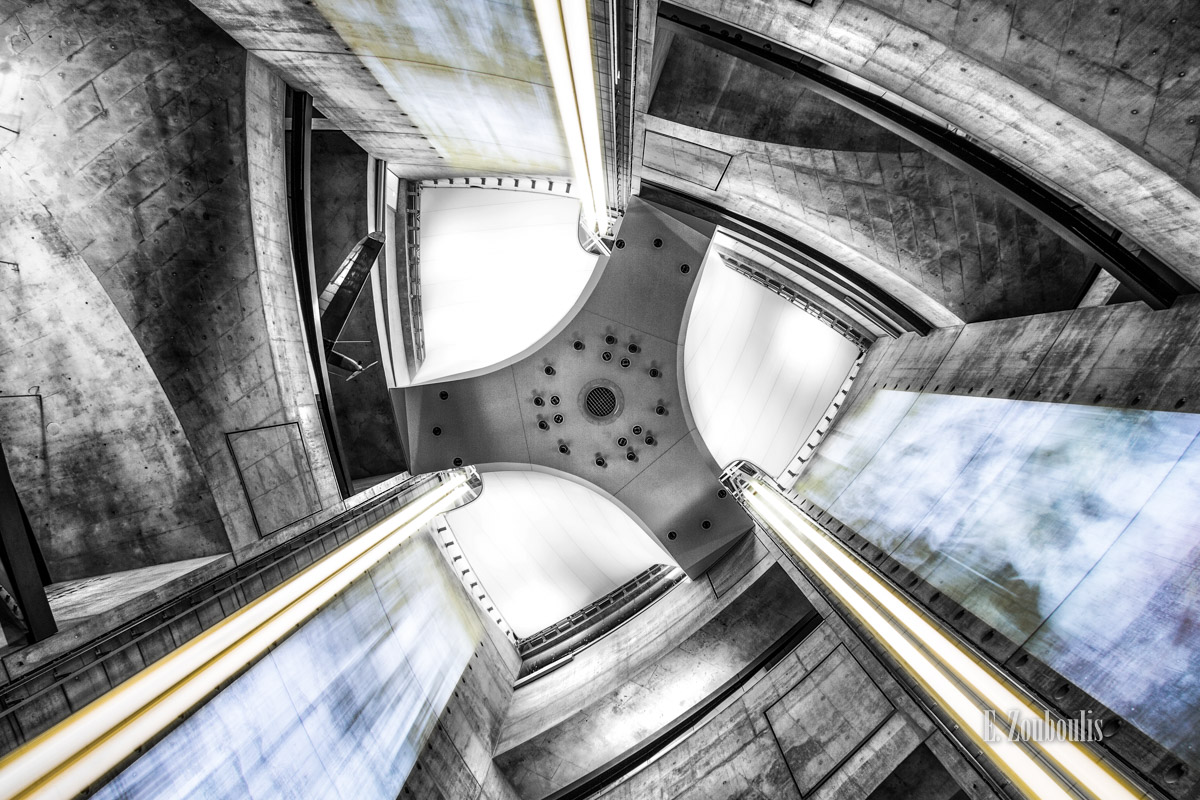 Among the Stars, Architecture, Architektur, Aufzug, Baden-Württemberg, Chromakey, Colorkey, Deutschland, EZ00051, Elevator, Fine Art, FineArt, Germany, Lift, Light Trails, Long Exposure, MBMus, Mercedes, Mercedes Benz Museum, Museum, Speed, Stars, Sterne, Stuttgart, Thyssen, Thyssen Krupp, UNStudio, Wankel, Wankelmotor, Zouboulis, airplane, ascending, daimler, fahrstuhl, flugzeug, future, futuristic, light, mercedes benz, mothership, preshow, roof, speeding, zouboulis photography