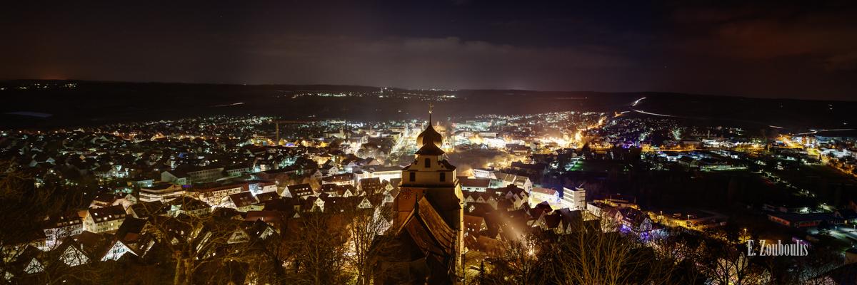 Ansichten, City, Deutschland, Dunkel, EZ00183, Fine Art, FineArt, Germany, Herrenberg, Licht, Nacht, Night, Panorama, Skyline, Stadtblick, Zouboulis, stadt, view, zouboulis photography