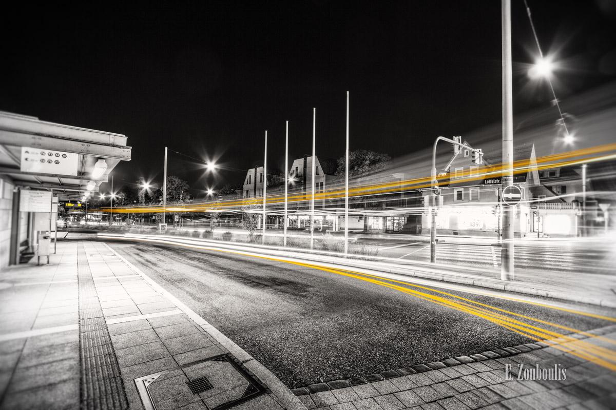 At The Speed Of Light, Bus, Chromakey, Colorkey, Deutschland, Dunkel, EZ00332, Fine Art, FineArt, Gelb, Germany, Geschwindigkeit, Licht, Light Trails, Nacht, Night, SSB, SSBAG, Speed, Stuttgart, Traffic, Trails, Velocity, Yellow, Zouboulis, bus stop, bushaltestelle, degerloch, haltestelle, löffelstraße, stop, zouboulis photography