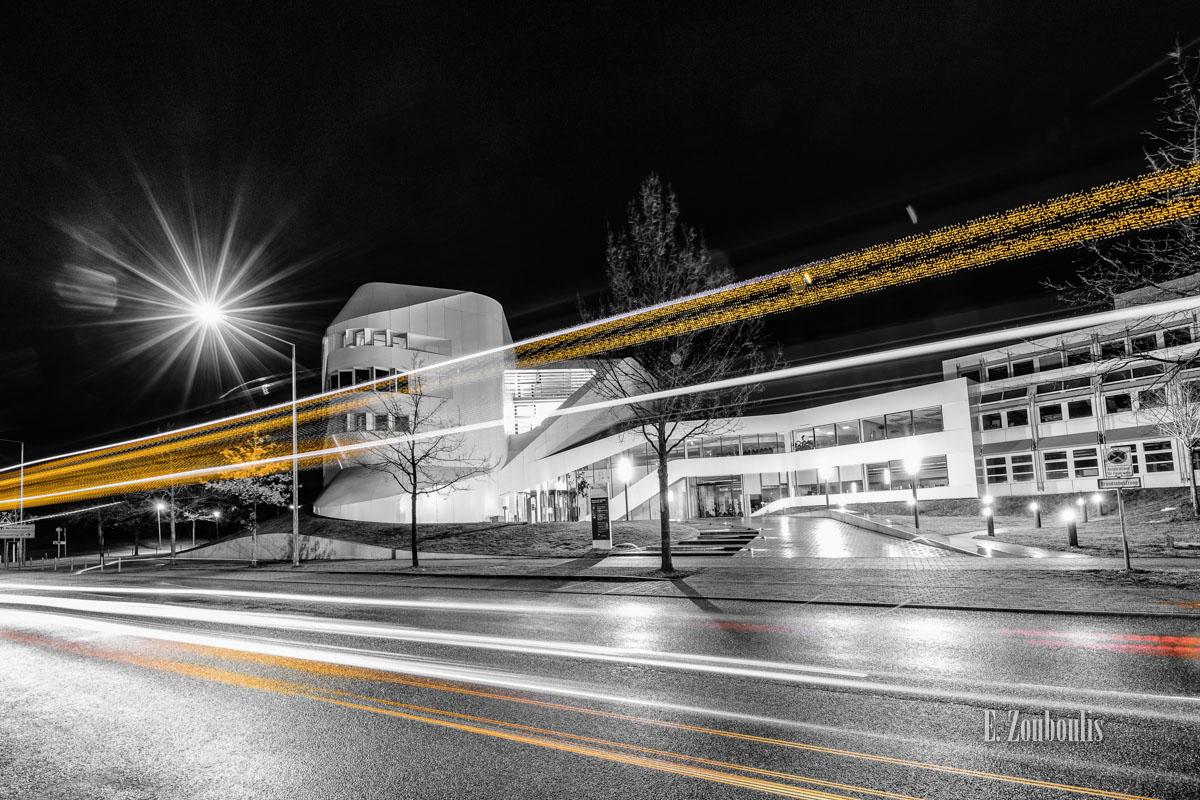 Architecture, Architektur, At The Speed Of Light, Chromakey, Colorkey, Deutschland, Dunkel, EZ00424, Fine Art, FineArt, Fraunhofer, Germany, Langzeitbelichtung, Licht, Light Trails, Long Exposure, Nacht, Night, SSBAG, Stuttgart, Traffic, Trails, Universität, Vaihingen, Zouboulis, iao, virtual engineering, zouboulis photography