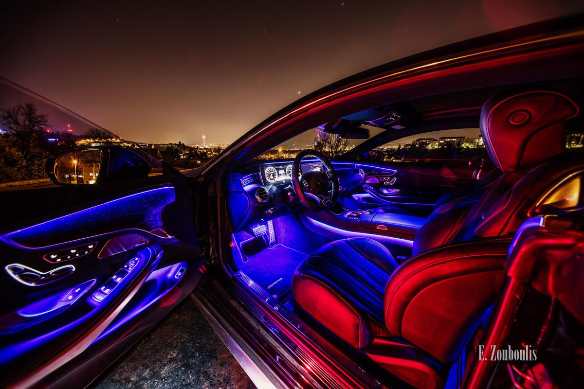 AMG, Automotive, Benz, Cars, City, Deutschland, Dunkel, EZ00440, Fine Art, FineArt, Germany, Interior, Licht, Luxus, Mercedes, Nacht, Night, S63, Skyline, Stuttgart, Zouboulis, ambient, ambient light, cockpit, luxury, s63amg, s63coupe, zouboulis photography