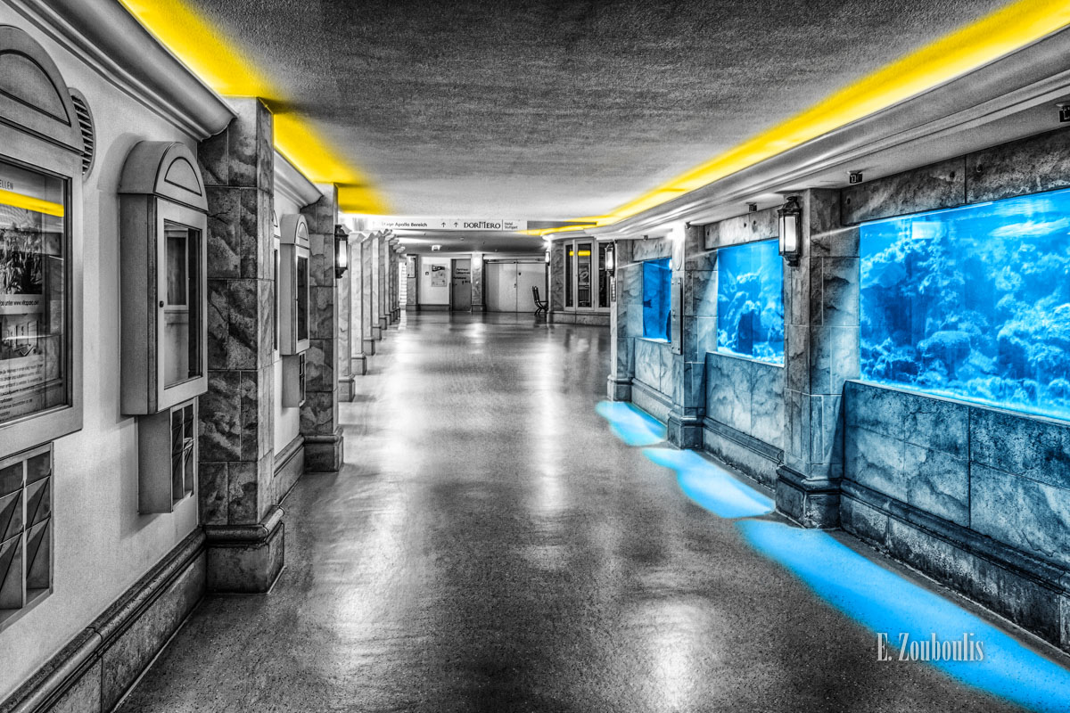 Architecture, Architektur, Chromakey, Colorkey, Deutschland, EZ00530, Fine Art, FineArt, Germany, Hotel, Langzeitbelichtung, Licht, Long Exposure, Möhringen, SI Centrum, Stuttgart, Zouboulis, aquarium, dormero, zouboulis photography