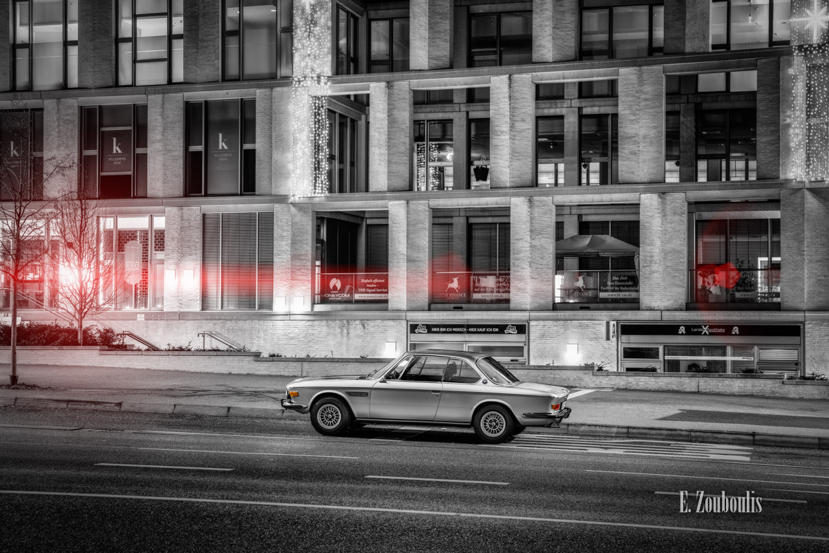 Auto, Automotive, BMW, BMW 3, BMW 3 CS, BMW Classic, Cars, Chromakey, City, Colorkey, Deutschland, Dunkel, EZ00630, Fine Art, FineArt, Germany, Licht, Nacht, Night, Stuttgart, Zouboulis, classic car refugium, helber, historic, killesberg, oldtimer, stadt, urban, zouboulis photography