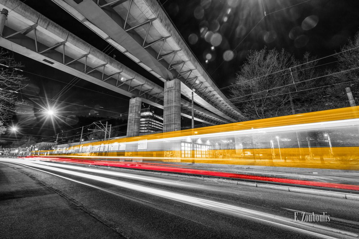 At The Speed Of Light, Bahn, Bahndepot, Bridge, Brücke, Chromakey, Colorkey, Deutschland, Dunkel, EZ00764, Fine Art, FineArt, Gelb, Germany, Heslach, Langzeitbelichtung, Licht, Lichtschweif, Light Trails, Long Exposure, Nacht, Night, SSB, SSBAG, Speed, Stadtbahn, Strassenbahn, Stuttgart, Stuttgart Süd, Südheim, Traffic, Trails, Tram, Velocity, Yellow, Zouboulis, futuristic, futuristisch, under the bridge downtown, zouboulis photography